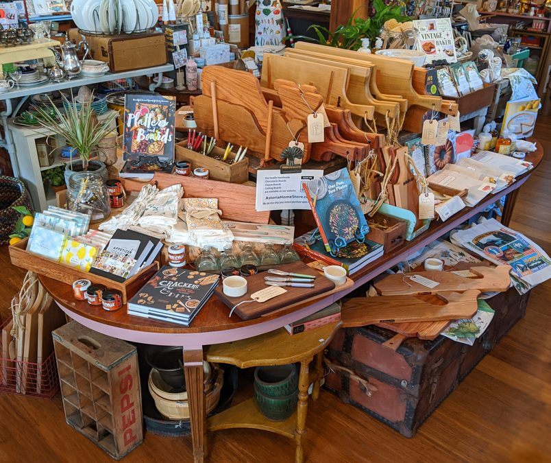 Come by the gift shop for Whale Week,  March 7th in Mendocino Village  and Check out our selection of unique locally handmade Whale Charcuterie Boards  Perfect for picnicking on the bluffs while watching for wales :)  45050 Main Street, Mendocino, CA