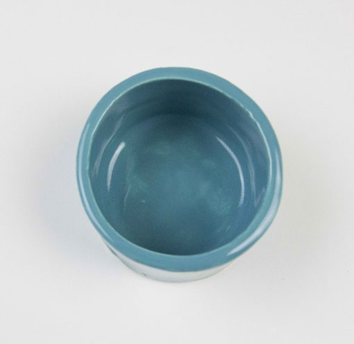 3 in Inch Diameter 2 and one half inches tall Aqua Fresca Green Ramekin - USA MADE IN USA - Charcuterie Food Serving - Ramekins - Made in Mendocino