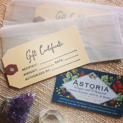Astoria Home Decor and Gifts of Mendocino Gift Card 2020