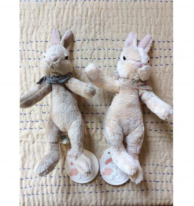 Fawn and Cream Maileg Plush Bunny Small - Giftset - Gift Set