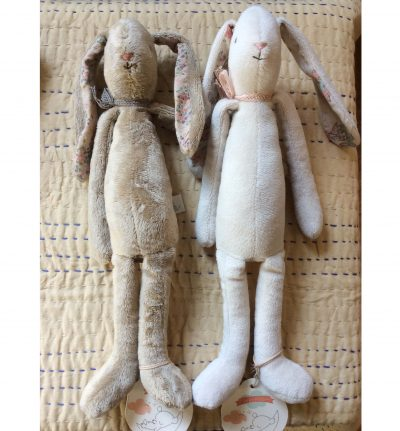 Maileg Soft Calico Cream and Fawn Brown Bunnies Sitting - Giftset - Gift Set - Grouping Set Grouping