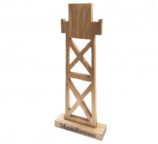 Mendocino Keepsake Mendocino Souvenir Gifts Set – Locally Handcrafted Woodworking Mendocino Village Water - Product Image