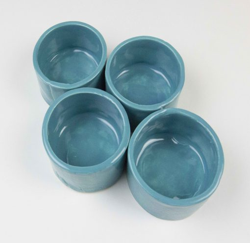 Ramekin Set of Four - USA MADE IN USA - Charcuterie Food Serving - Aqua Fresca Green Ramekins - Handcrafted Mendocino Handmade