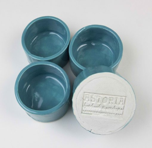 Ramekin Set of Four - USA MADE IN USA - Charcuterie Food Serving - Aqua Fresca Green Ramekins - Handcrafted in Mendocino Handmade 2