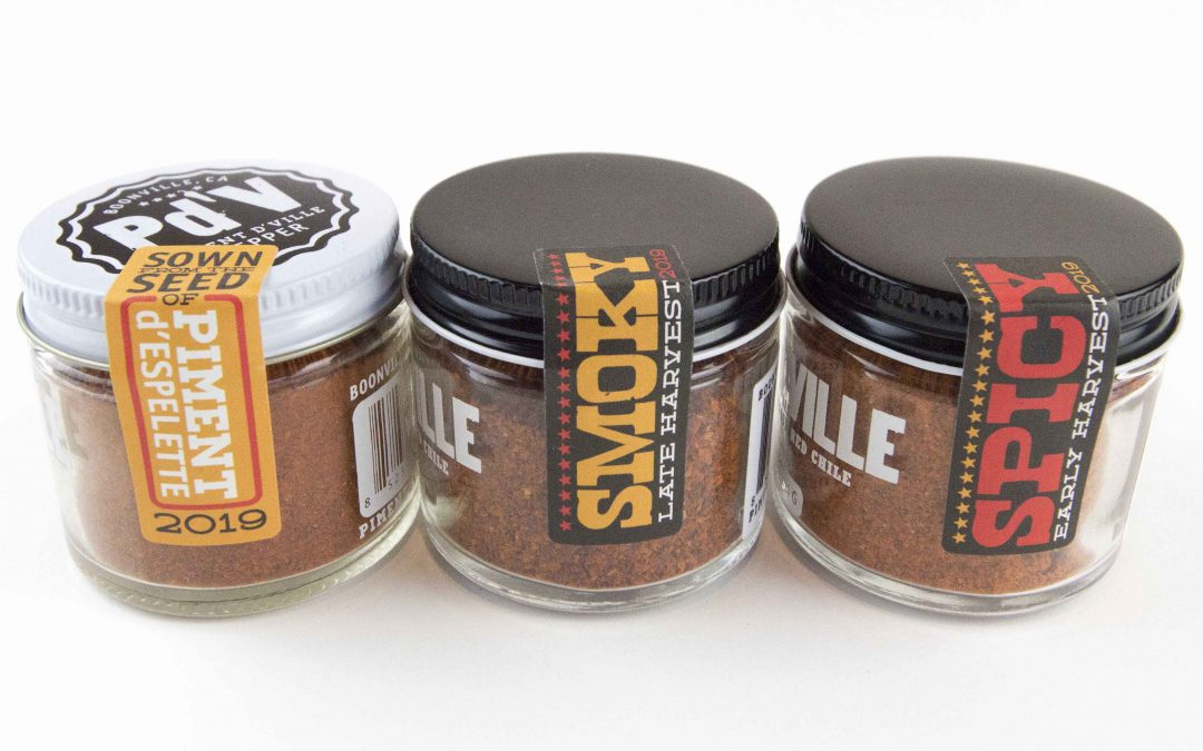 Regular Smoky Spicy Three Pack Combo - Sweet Chile Spice of Mendocino County Hand Crafted Chille Powder Spice - Handcrafted in Boonville Piment d'Ville