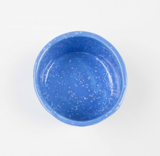 3 in Inch Diameter 2 and one half inches tall Blue with White Sprinkles Ramekin - USA MADE IN USA - Charcuterie Food Serving - Ramekins - Made in Mendocino