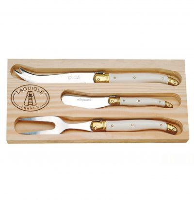 Three Piece Fork, Knife & Spreader Cheese Sets