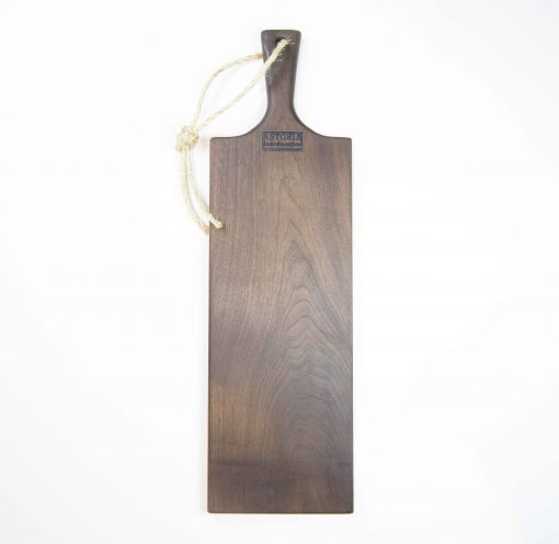 Charcuterie Cheese Board Handcrafted in Mendocino Handmade in USA MADE IN USA - Black Walnut Charcuterie Board Food Serving - Large Sized - Astoria Gift Shopping