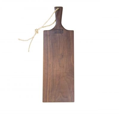Charcuterie Cheese Board Handcrafted in Mendocino Handmade in USA MADE IN USA - Black Walnut Charcuterie Board Food Serving - Long Medium Sized - Astoria Gift Shopping