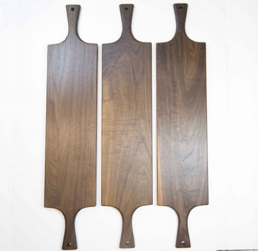 Handcrafted in Mendocino Handmade USA MADE in USA - Charcuterie Boards Food Serving Boards - Double Handled Tripple Deal - Grouping - Cheese Boards - 3 Cutting Boards