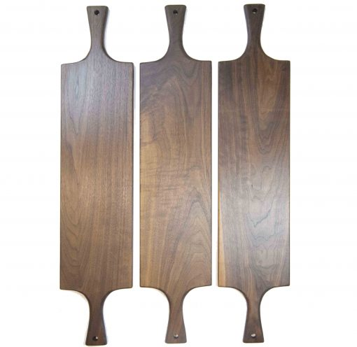 Handcrafted in Mendocino Handmade USA MADE in USA - Charcuterie Boards Food Serving Boards - Double Handled Tripple Deal - Grouping - Cheese Boards - Three Cutting Boards