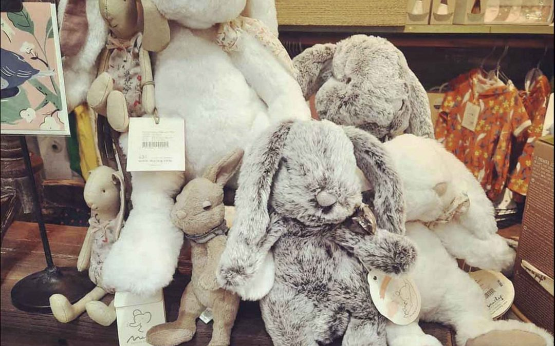 Sweet and soft bunnies are here for the perfect Easter basket 🐰  We have lots of other cute and cuddly stuffed animals as well!
