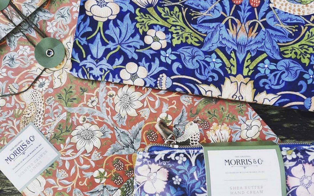 William Morris pouches and scented drawer liners….yes, please!!  If you cannot make it to our Gift Shop & Home Decor location at  45050 Main Street, Mendocino CA 95460,  Contact us here! We'd be happy to ship!