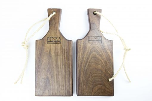 Woodworking in Mendocino Locally Handcrafted Made in the USA MADE Small Size Black Walnut Charcuterie Board Gift Astoria Product Astoria Home Décor and Gifts - Gift Set of 2
