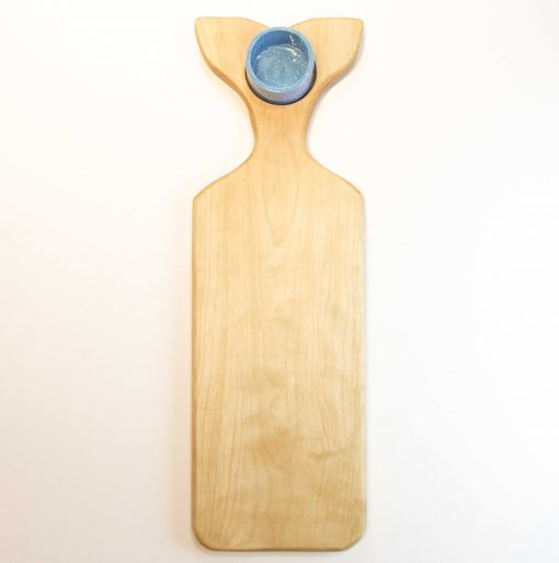 Shopping for Sperm Whale Shaped Charcuterie Cheese Board Serving Board Platter Cheese Paddle with Ramekin Solid Birch Locally Handmade in Mendocino Made in USA Made North Coast Shopping