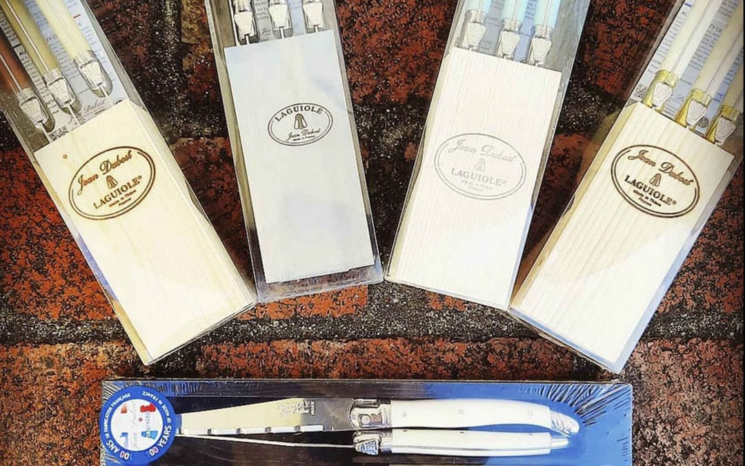 Summer Spring Shopping in Mendocino Village for Laguiole Knives - Laguiole Streak Knife Set Gifts - Cheese Knives - Bread Knives