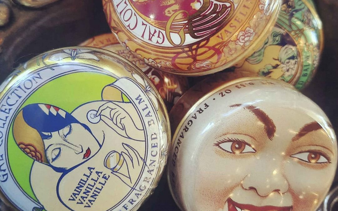 New lip balms are here!  These new Art Nouveau Lip Balms  that we just got in are Made in Spain